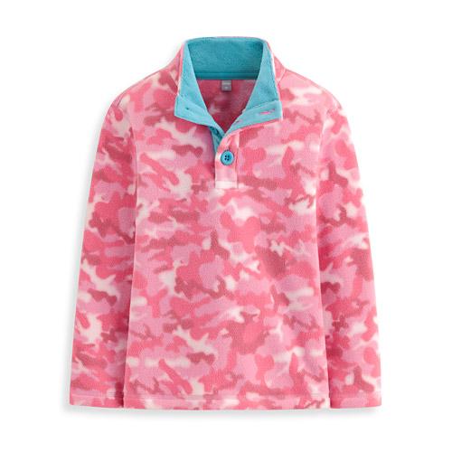 Fleece半開襟立領衫-童