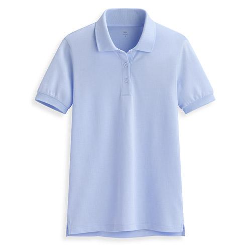 Pima 棉彈性polo衫-女