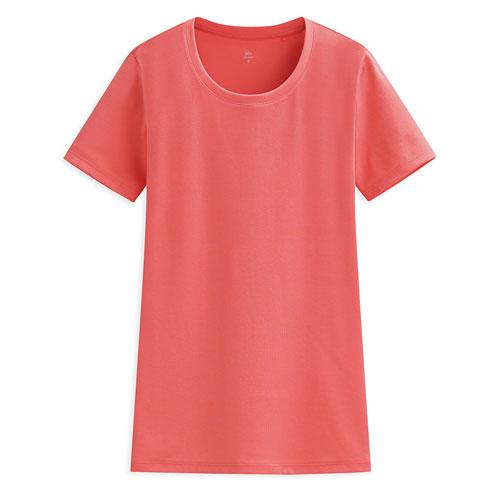 Pima 棉羅紋圓領T恤-女