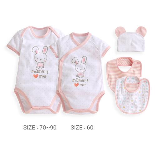 羅紋包臀衣(4入套裝)-Baby