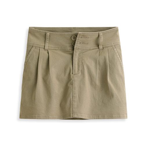 棉彈休閒連褲短裙-女