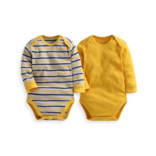 羅紋條紋包臀衣(2入)-Baby