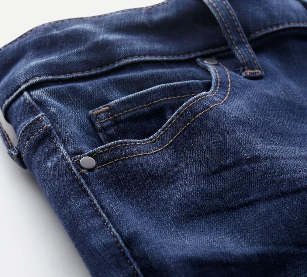 特彈牛仔窄管褲-女