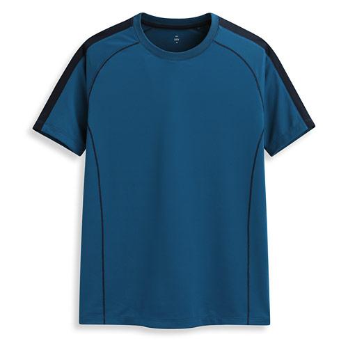 吸排圓領短袖T恤-男
