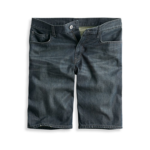 牛仔短褲-男