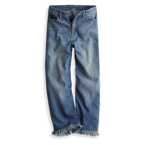 牛仔寬褲-女