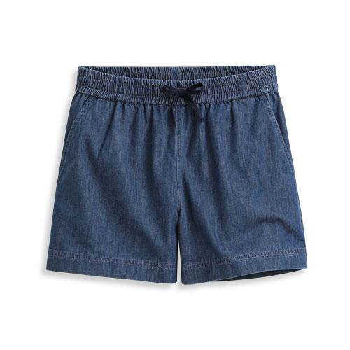 軟牛仔輕便短褲-女