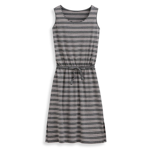 輕柔條紋洋裝-女