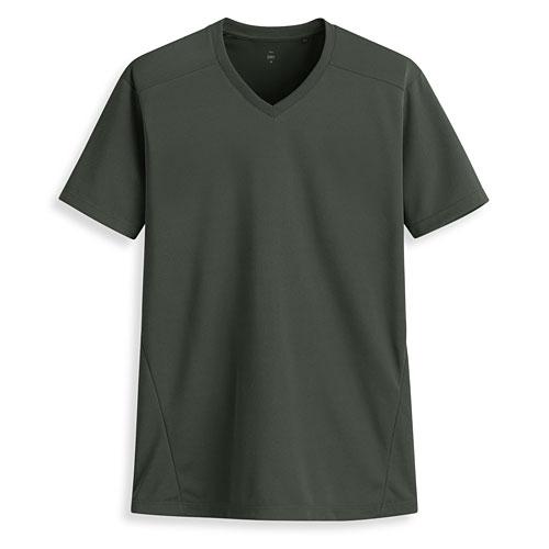 吸排V領短袖T恤-男