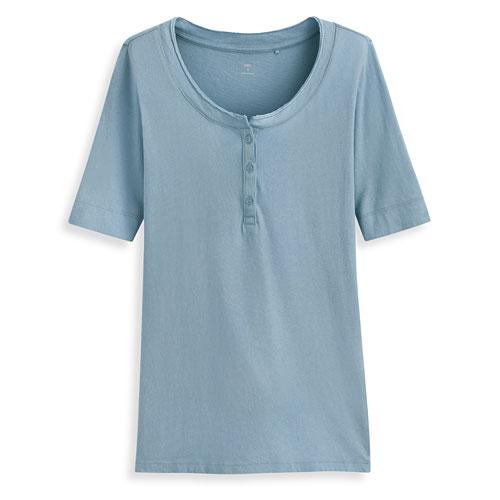 亨利領短袖T恤-女
