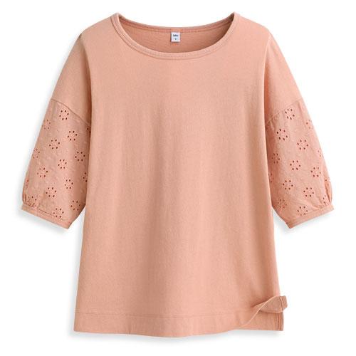 蕾絲五分袖T恤-女