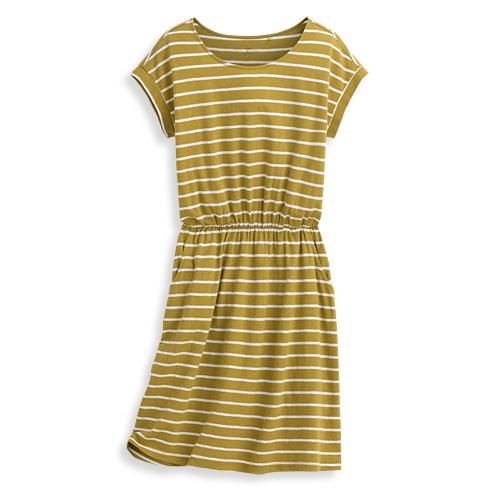 竹節棉條紋洋裝-女