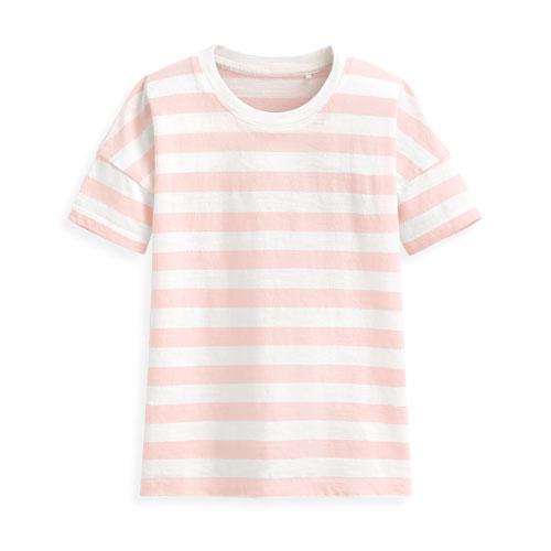 竹節棉條紋T恤-童