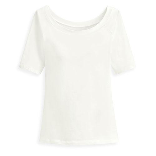 Bra芭蕾領短袖T恤-女