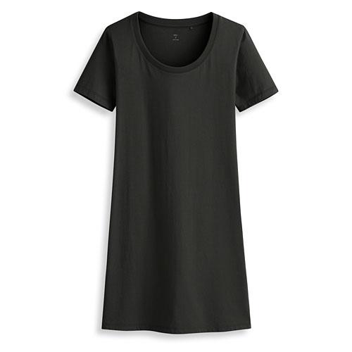 純棉長版T恤-女