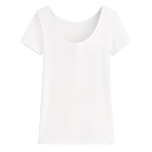 輕涼圓領短袖T恤-女