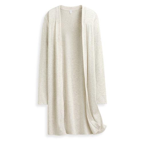 羅紋長版罩衫-女