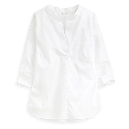 寬版七分袖襯衫-女