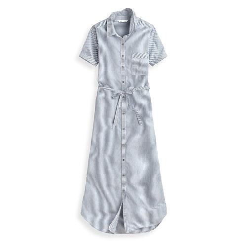 棉質短袖長洋裝-女