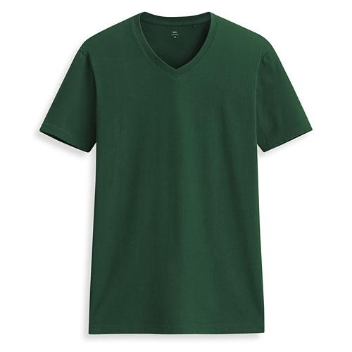 Pima 棉V領T恤-男