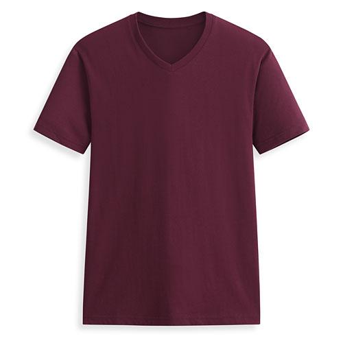 快乾棉V領短袖T恤-男