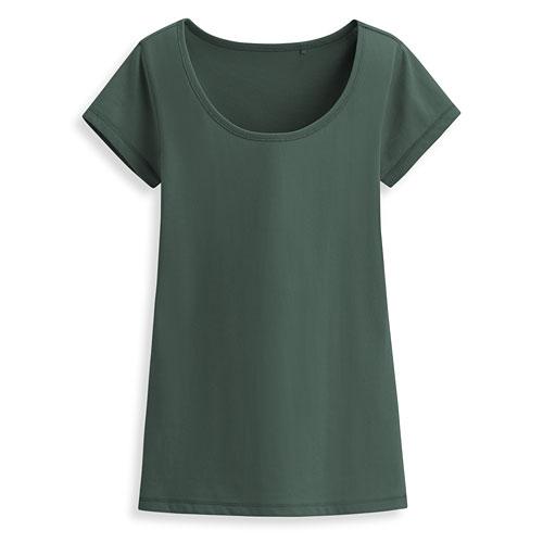 快乾棉大圓領短袖T恤-女