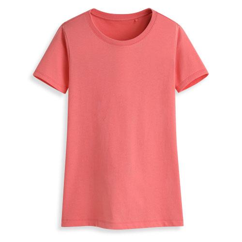 快乾棉圓領短袖T恤-女