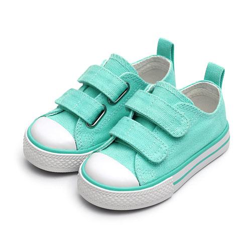棉質自黏帶帆布鞋-童