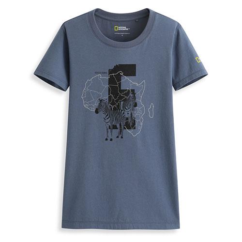 國家地理印花T恤-L01-女