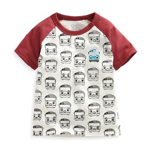 TAYO The Little Bus印花T恤-08-Baby