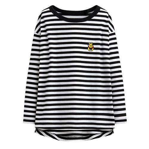 迪士尼系列條紋寬版T恤-24-女
