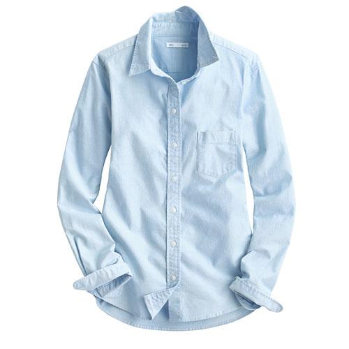 牛津長袖襯衫-女