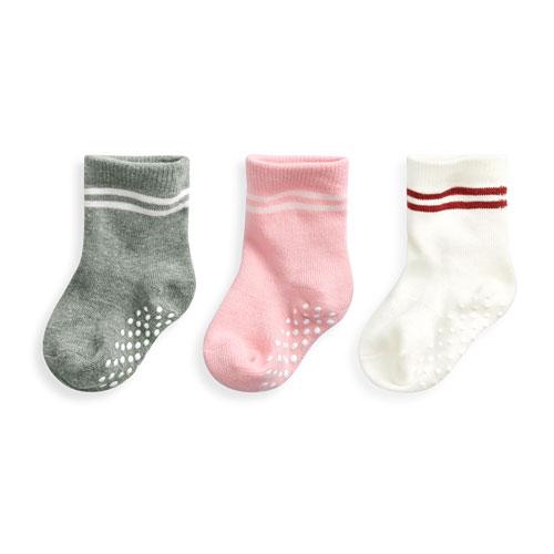 羅紋配條中筒襪(3入)-Baby