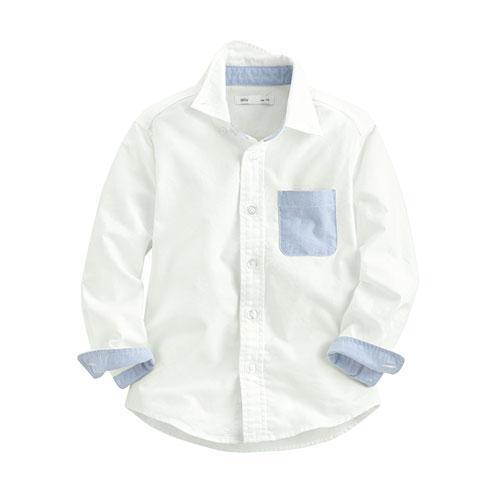 牛津長袖襯衫-童