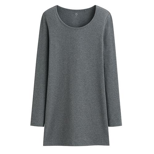 Pima 棉羅紋長版T恤-女