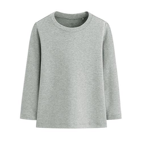 柔軟磨毛圓領長袖T恤-童