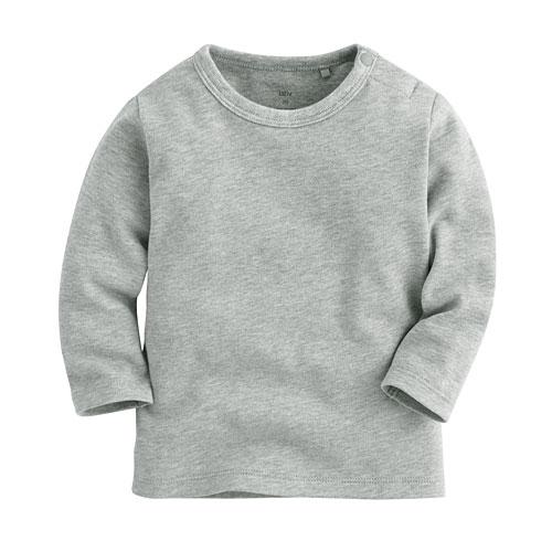 柔軟磨毛圓領長袖T恤-Baby