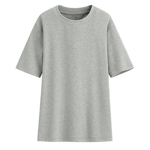 柔軟磨毛寬版圓領T恤-女