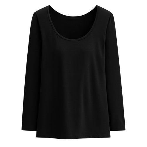 保暖BraU領八分袖T恤 -女