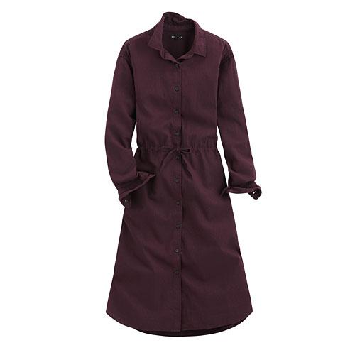 法蘭絨長袖洋裝-女