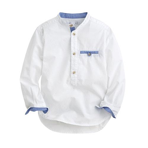 柔棉立領襯衫-童