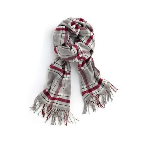 寬版格紋圍巾-中性款
