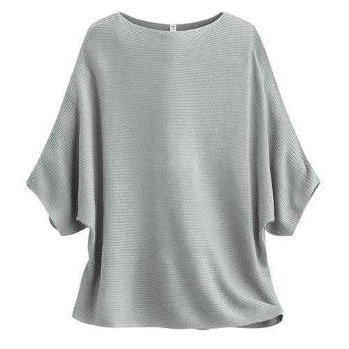 羅紋寬袖針織衫-女