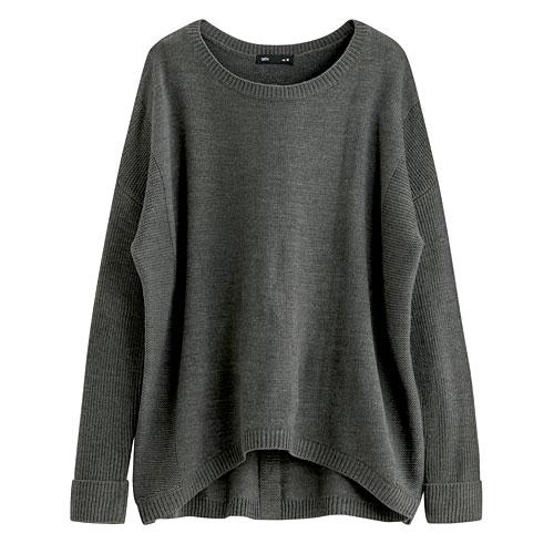 長袖寬版針織衫-女