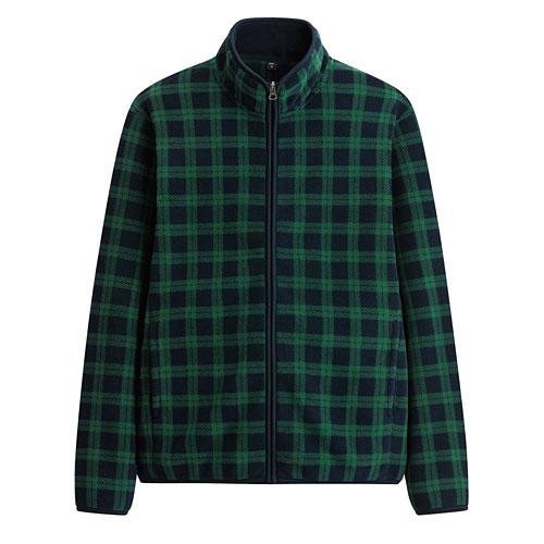Fleece格紋立領外套-男