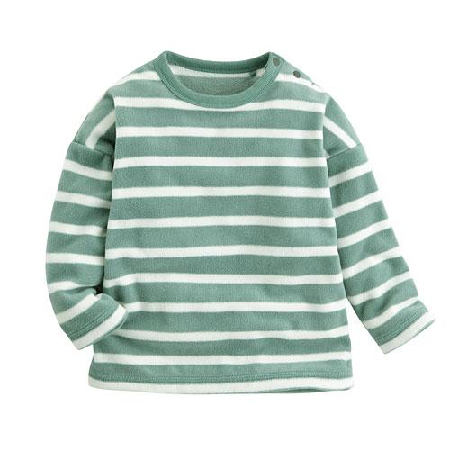 Fleece條紋寬鬆上衣-Baby