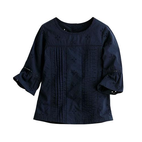 棉質喇叭袖上衣-童