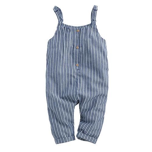 直條紋吊帶褲-Baby