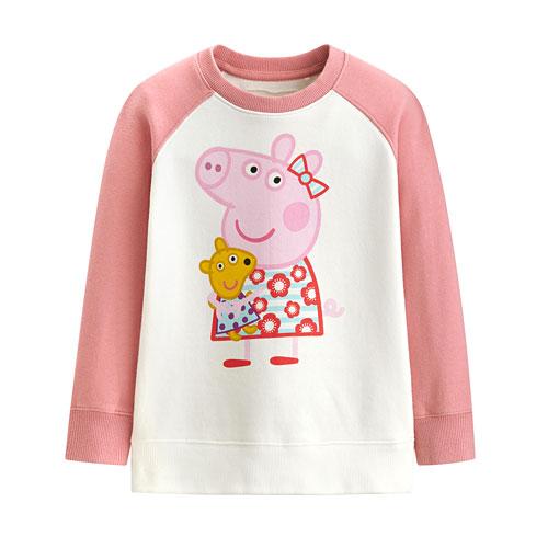 Peppa Pig毛圈配色圓領衫-01-童