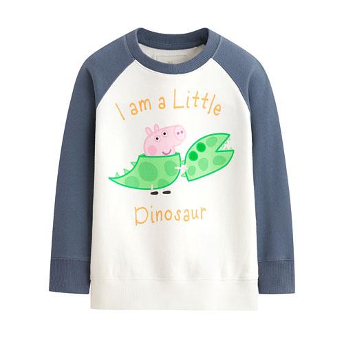 Peppa Pig毛圈配色圓領衫-03-童